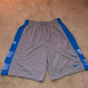 blue & gray shorts